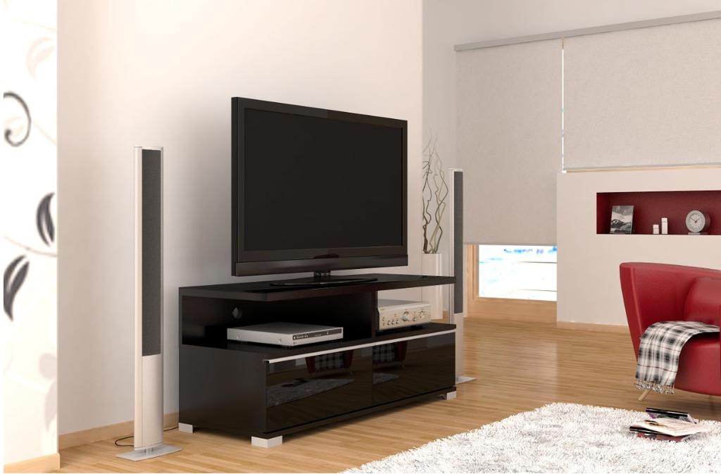 Meubeltop tv meubel pardus 2 zwart van elmob tv meubelen for Huiskamer meubels
