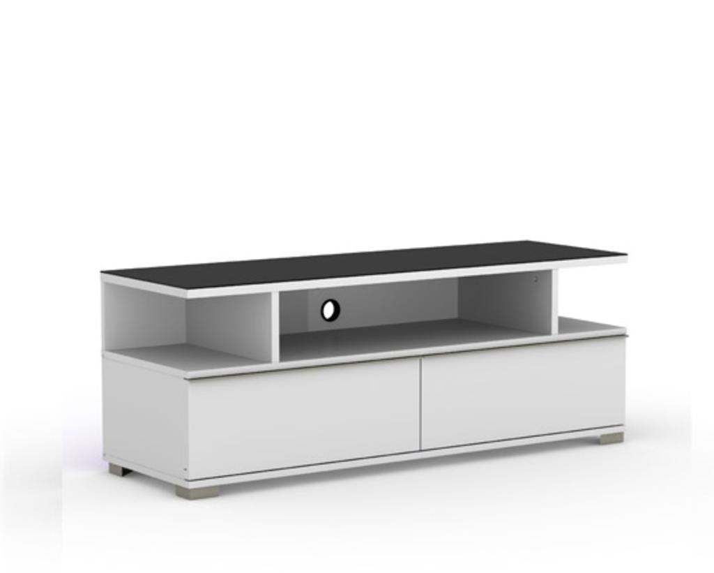 Meubeltop tv meubel pardus 3 wit van elmob tv meubelen for Huiskamer meubels