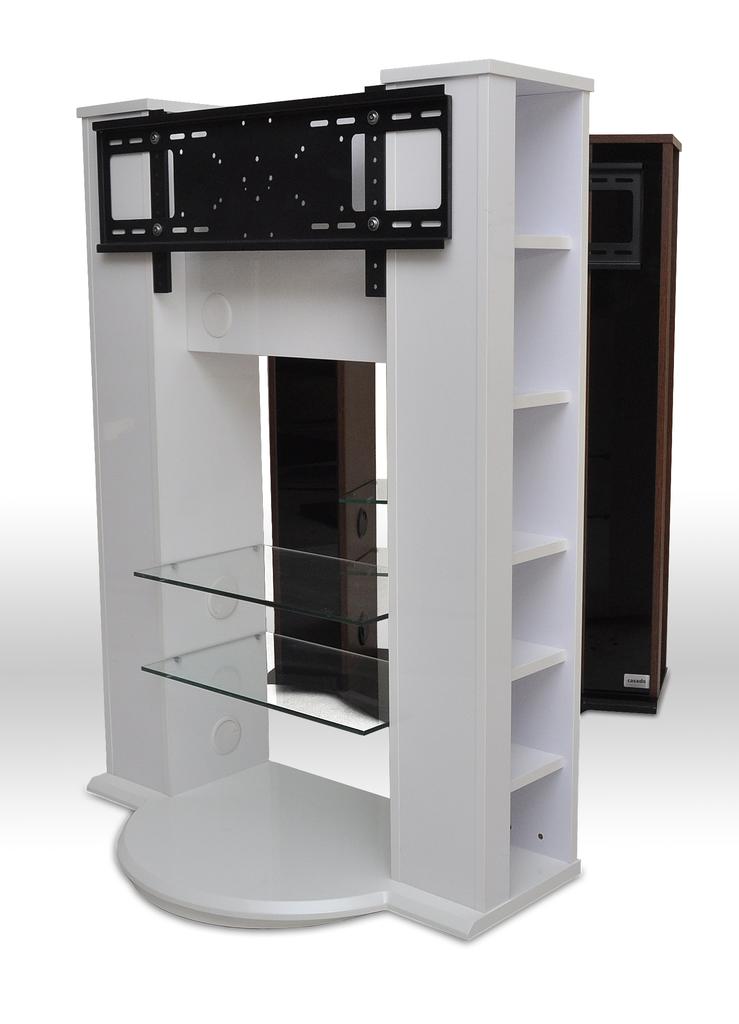 Meubeltop tv meubel rotator hoogglans wit van casado tv for Huiskamer meubels
