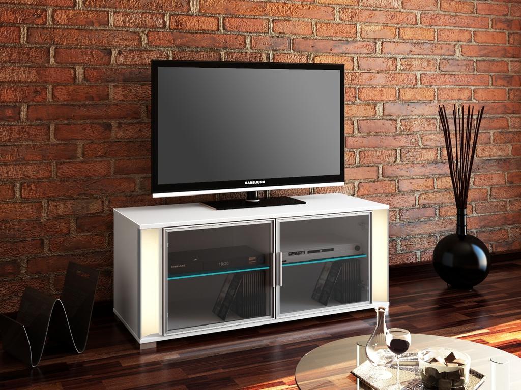 Meubeltop tv meubel trento hoogglans wit van hubertus for Huiskamer meubels