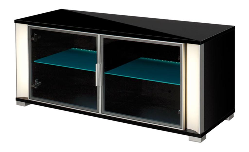Meubeltop tv meubel trento hoogglans zwart van hubertus for Huiskamer meubels