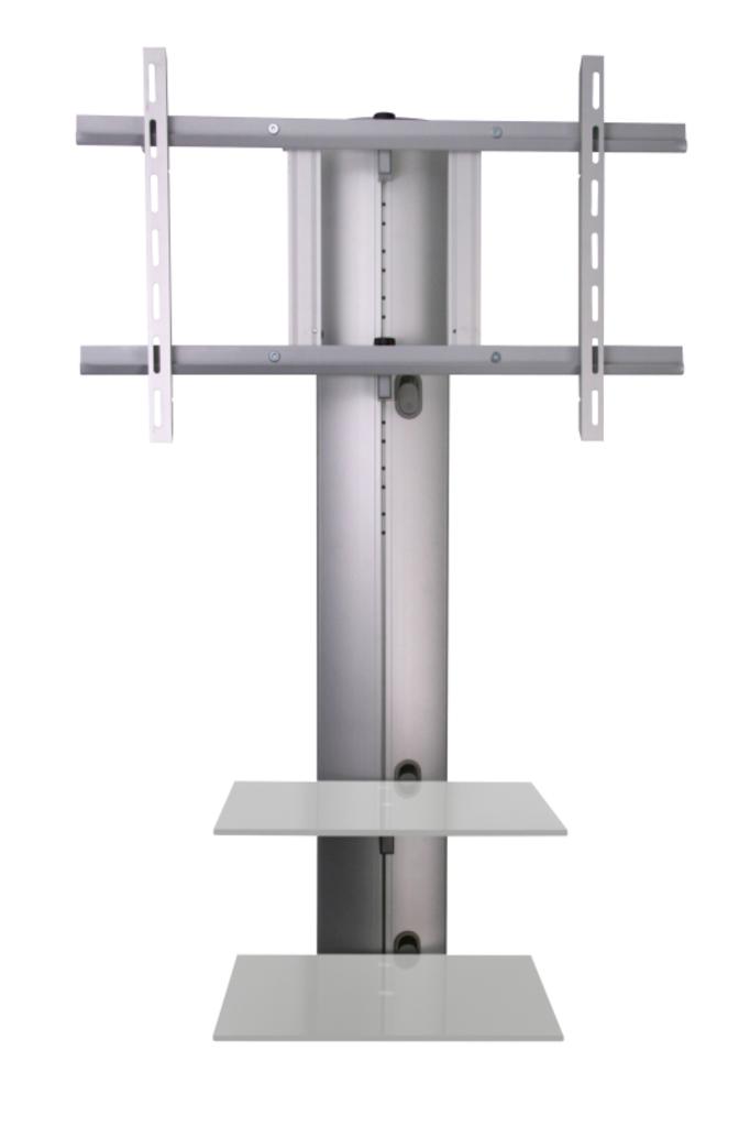 Meubeltop tv wandmeubel orion zilver transparant glas van hubertus meble misc - Kantoor transparant glas ...