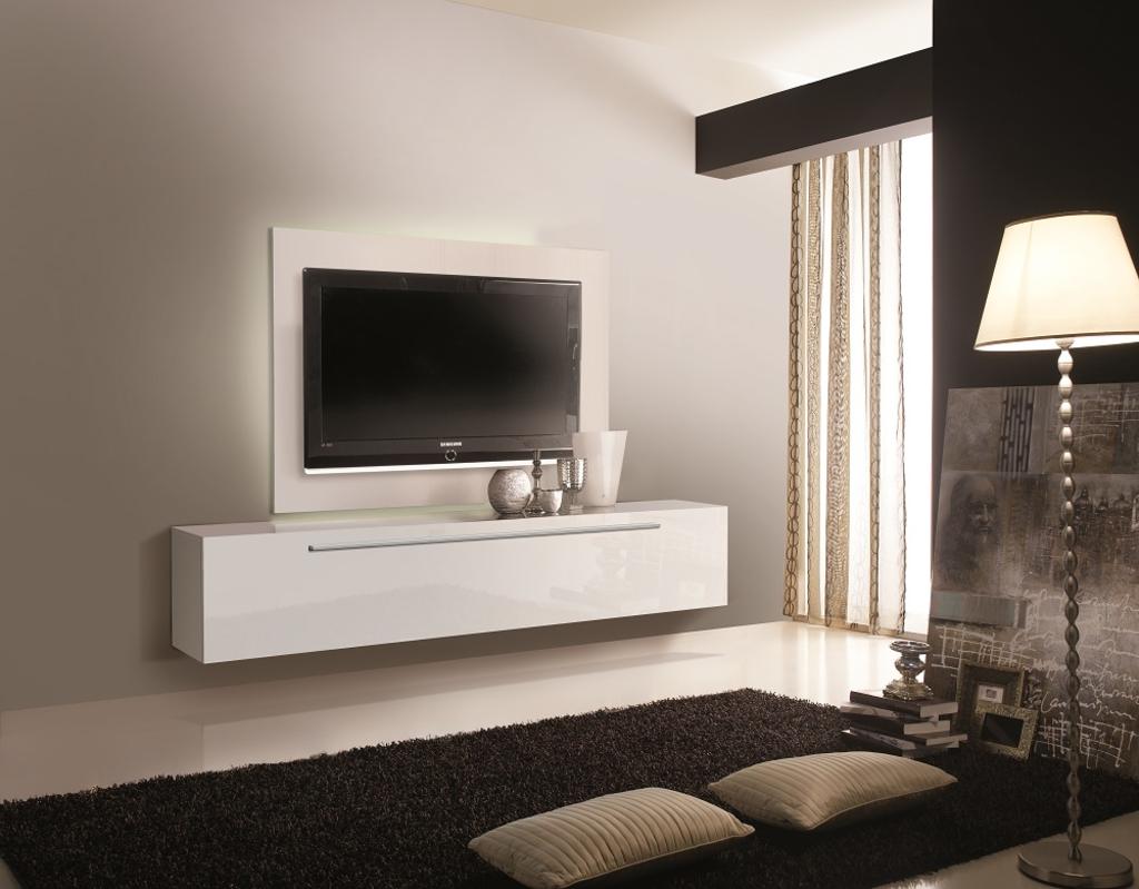 Hedendaags MeubelTop: Zwevend Tv meubel Tosia 210 cm Hoogglans wit van Ib KY-81
