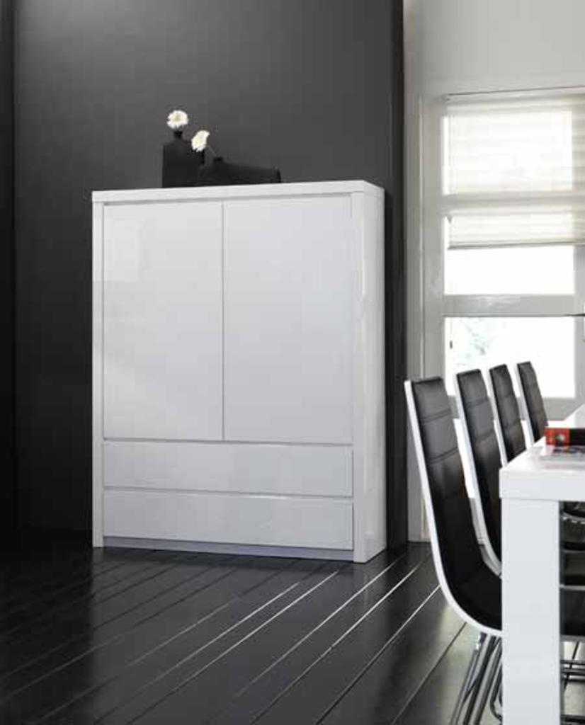 meubeltop wandkast 5018 hoogglans wit van womedi kasten. Black Bedroom Furniture Sets. Home Design Ideas