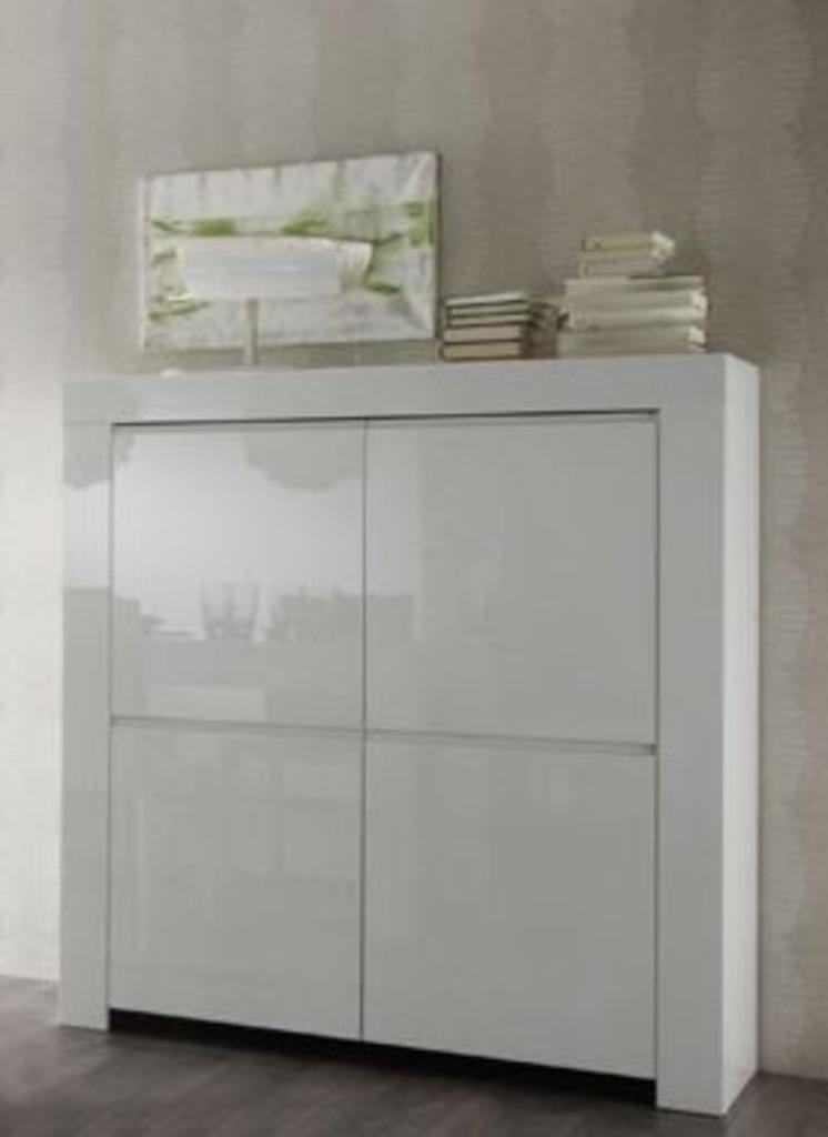 Benvenuto Design Kast Amalfi Hoogglans Wit 140x120x50 Cm