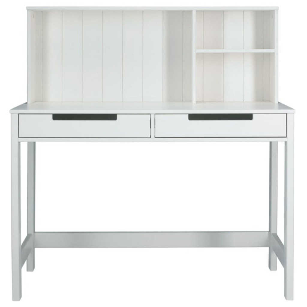 Meubeltop woood ramon bureau wit van woood tafels for Ladenblok bureau wit