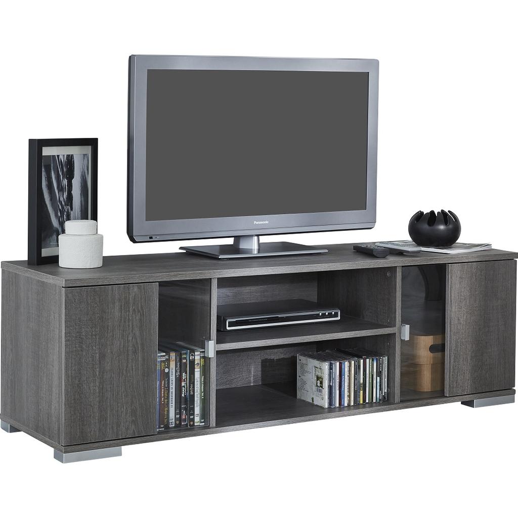 Meubeltop tv meubel riva 140 cm grijs eiken van young for Eiken tv meubel