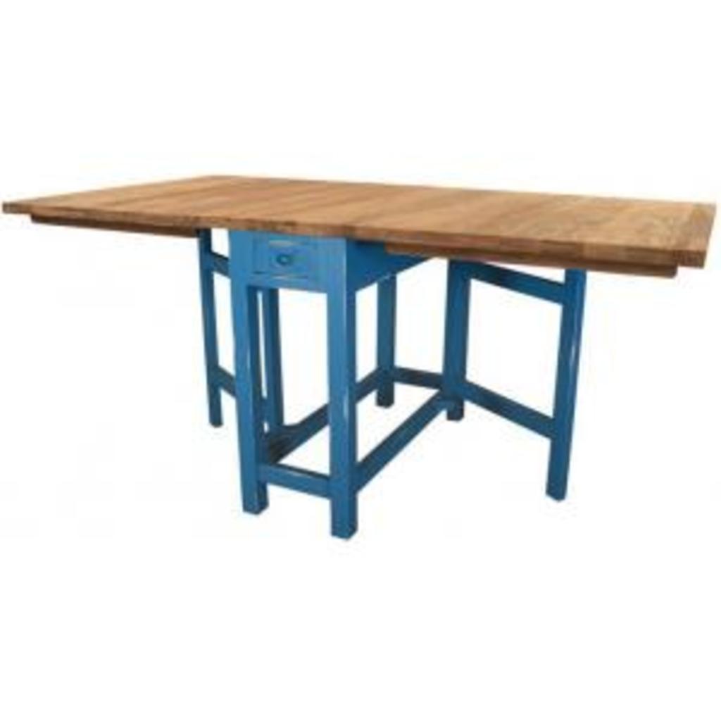 Meubeltop zweedse klaptafel blauw hk living van hk living tafels bijzettafels en dressoirs - Klaptafel ...